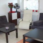 Das Wohnzimmer der Ferienwohnung Wollmetshofen